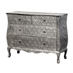 Large Embossed Metal Chest