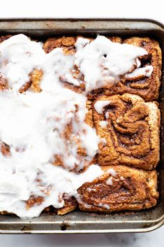 Say hello to the Best Gluten Free Cinnamon Rolls! They are perfectly sweet and doughy. These vegan cinnamon rolls would be perfect for Christmas breakfast! #bestglutenfreecinnamonrolls #vegancinnamonrolls #glutenfreecinnamonbuns #veganchristmasbreakfast #dairyfreecinnamonrolls #veganchristnmas #veganbrunchrecipes #dairyfreefrosting #veganfrosting Vegan Brunch Recipes, Gluten Free Recipes For Breakfast, Delicious Vegan Recipes, Gluten Free Desserts, Vegan Desserts, Dairy Free Frosting, Vegan Frosting, Vegan Christmas, Christmas Recipes