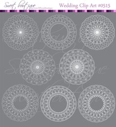 WHITE Lace clip art labels or frames lace by MSweetboutique, $5.99