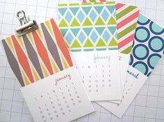 Modern Patterns Series II Mini 2014 Calendar by monkeymindesign, $12.00