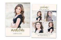 Graduation Card Template 2018 Senior ~ Card Templates ~ Creative Market