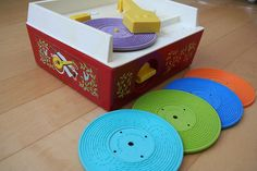 My love affair with vinyl started when my parents gave me one of these when I was 4. | Fisher Price Record Player, via Flickr.