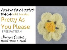 Pretty As You Please - FREE PATTERN - Left Handed