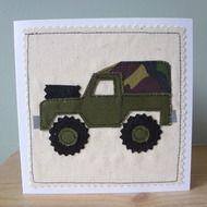 Landrover Jeep applique card