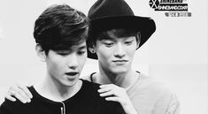 They're so cute <3 ChenBaek <3 ~ #Chen #Baekhyun #Exo (GIF)