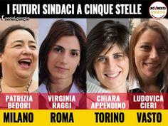 il popolo del blog,: Patrizia Bedori,Virginia Raggi, Chiara Appendino e...