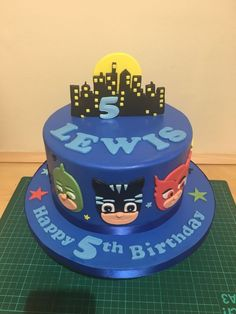 Boys Bday Cakes, Mickey Birthday Cakes, Pj Masks Birthday Cake, Birthday Cake Kids Boys, Paw Patrol Birthday Cake, Bithday Cake, 3rd Birthday, Festa Pj Masks, Avenger Cake