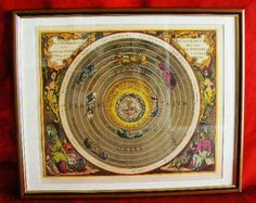 20131 $9999 or best offer - Harmonia Macrocosmica printed 1962 - framed - very rare - free shipping worldwide or pick up in sarchi costa rica. not a print f