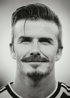 Perfect Mustache & Hairstyle - David Beckham
