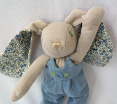 Genevieve, A Recycled T-Shirt Bunny