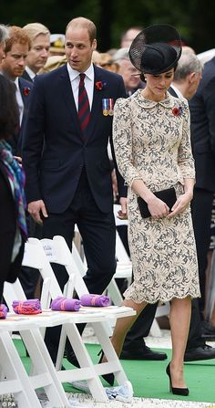 Cameron and royal family members stand side-by-side with European leaders at the Somme to mark a century since the bloodiest day in Britain's military history | Daily Mail Online