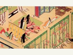 Eikyu Matsuoka, painting Heian era