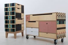 Plywood furniture collaboration with De Steyl furniture and RR Studio's Renee Rossouw