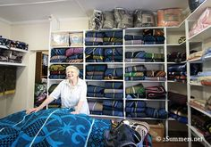 Gertie and the Bosotho blanket shop in Calrens, South Africa.