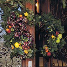 Smart idea!  Split wreath...