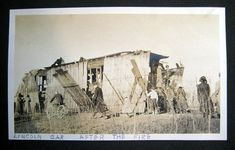 Thank you to Richard Lewis whose father, Carl Lewis, took this picture after the fire in 1911. (Richard Lewis's picture is not in the public domain.)