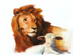 Lion & Lamb Christian Art | DOWNLOAD WALLPAPER | ADD VERSE OR TEXT | ADD TO LIGHTBOX | MORE LIKE ...