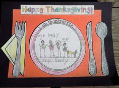 Thanksgiving Placemat Craft - Great Bulletin Board Display, too! $
