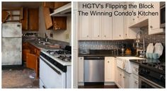Tin Backsplash as Seen on HGTV's Flipping The Block   Before & After Kitchen Remodel Photos