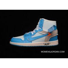 finest selection 334bf 602c0 Off-White X Air Jordan 1 Retro High Nike AJ1 OW UNC AQ0818-148 Mens Aj1  White Cone-Dark Powder Blue Top Deals