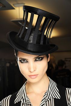 Great Steampunk hat from the Jean Paul Gaultier collection from http://www.kumbuya.com/steampunk-revolution/