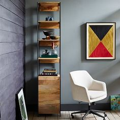 hallway furniture? Rustic Modular Open + Closed Storage #westelm