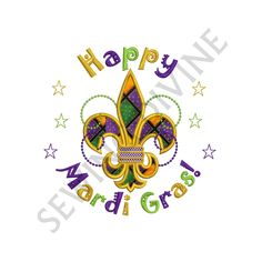 Happy MARDI GRAS APPLIQUE Design Instant Download 4x4 5x7 6x10 Machine Applique Pattern by SewingDivine on Etsy https://www.etsy.com/listing/217498193/happy-mardi-gras-applique-design-instant