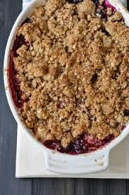 Mixed Berry Crisp; click on the image for the recipe, with a medley  of mixed berries this will taste fantastic. mykitchenoutfit.com/ #desserts