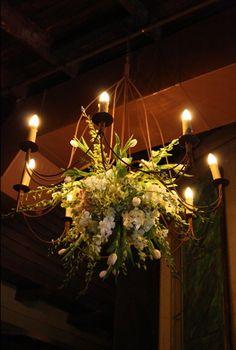Natural garden feel floral chandelier Floral Wedding, Wedding Flowers, Wedding Colours, Chic Wedding, Dream Wedding, Hanging Centerpiece, Hanging Decorations, Corsage Wedding, Wedding Bouquets