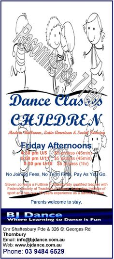 Kids classes start this Friday.....
