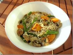 Sweet potato basil shiritaki noodles