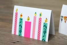 Diy For Kids, Crafts For Kids, Diy And Crafts, Arts And Crafts, Washi Tape, Birthday Cards, Holiday, Christmas, Card Making