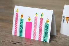 Zelf kaarten maken met maskingtape | Cadeaus maken