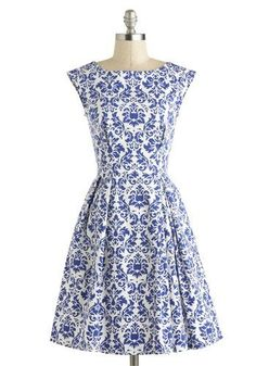 Be Outside Dress in Delft, #ModCloth by jeannaedorcas
