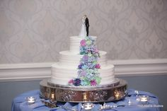 Another picture-perfect wedding cake created by @choccarousel for our Crystal Ballroom bride and groom! Photo courtesy of @abella143. http://www.crystalballroomnj.com/