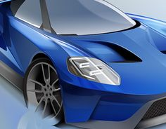 """Check out new work on my @Behance portfolio: """"Ford GT 2016 sketch and render."""" http://be.net/gallery/47243607/Ford-GT-2016-sketch-and-render"""