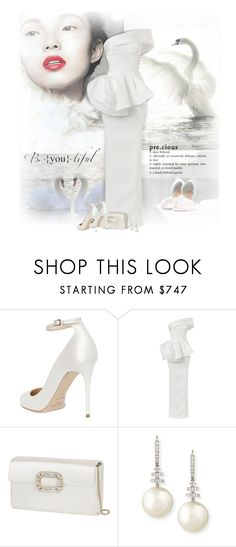 """""""White Swan"""" by kiki-bi ❤ liked on Polyvore featuring Disney, Jimmy Choo, Maticevski, Roger Vivier and Belpearl"""