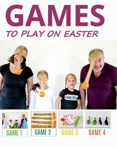 Are you looking for Easter Family Gathering Games, that'd require minimal set up? YAY, you've found it. Hilarious Easter family gathering games are FUN, QUICK and require NO or just LITTLE PREPARATION. Fun Games For Toddlers, Outside Games For Kids, Sports Games For Kids, Easter Activities For Kids, Kids Party Games, Games For Easter, Family Games To Play, Family Games Indoor, Indoor Games