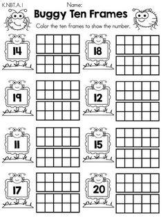 Spring Kindergarten Math Worksheets (Common Core Aligned)