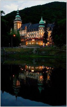Lillafüred Castle, near Felsőhámor, Bükk Mountains, Hungary, Carpathians Places To Travel, Places To See, Photo Chateau, Hungary Travel, Heart Of Europe, Beautiful Castles, Cities, Beautiful Places In The World, Medieval Castle