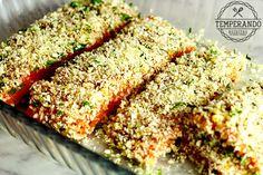 SALMAO COM MEL E MOSTARDA - a combinação perfeita do sabor da mistura de mel e mostarda e o crocante do Panko  | temperando.com #jantar #salmao #receita