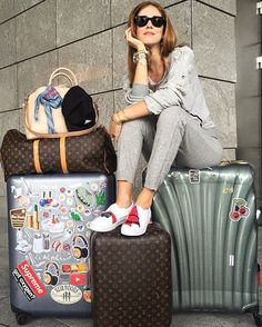 Pin for Later: The 1 Travel Essential Every Blogger Owns The Blonde Salad Chiara Ferragni adds stickers to her trusty Samsonite hard-shell suitcases, giving them a personal touch — and a bit of flair.