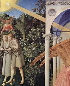 L'Annonciation (Fra Angelico, Madrid) — détail