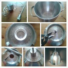 Vergiet lamp, heel makkelijk, mooi resultaat! Wok, Caravan, Diys, Bricolage, Do It Yourself, Homemade, Motorhome, Diy