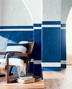 Weekend makeover: achieve instant nautical chic with the perfect blue and white combo - Cadet Blue and Plaster White from Ralph Lauren Paint