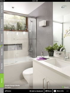 (Bathroom 1, 3) White, streamlined and modern bathroom. White vanity with undermount sink, toto toilet and zuma tub with sliding doors.