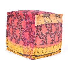 Kantha Embroidered Pouf by Found Object