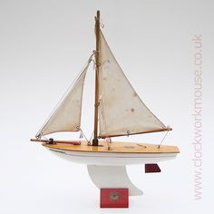 A beautiful vintage toy sailing boat by Star Yachts of Birkenhead, England
