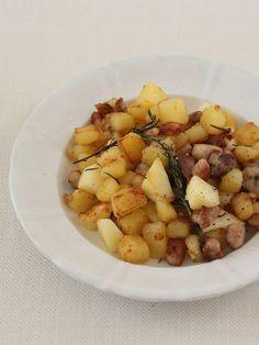 りんごとローズマリーが香るワインおつまみ。豚の脂で炒めたら、深い味わいに!|『ELLE a table』はおしゃれで簡単なレシピが満載!