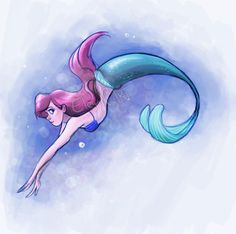 Ariel came to my house today... by EleyonArt on deviantART